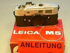 Leica M5 chrome advanced prototype boxed very rare
