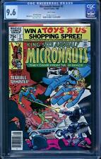 Micronauts Annual 2 CGC 9.6, white pages, perfect cover wrap, Steve Ditko art