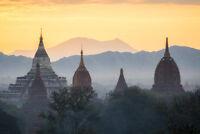 Mystic Sunrise Shwedagon Pagoda Yangon Myanmar Photo Art Print Poster 18x12