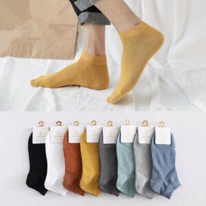 1 Pairs Mens Cotton Ankle Socks Low Cut Solid Color Dress Crew SOX 8 Color 7-10