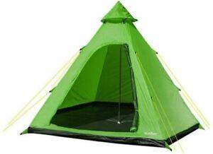 Summit HydraHalt 4 Man Person Tipi Tent GREEN Camping Teepee Pyramid Wigwam UK