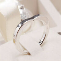 Authentic 925 Sterling Silver Signature Arc Of Love Heart Ring Size 5 6 7 8 9