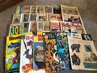 #FRB-721 -  LOT of 27 SILVER / GOLDEN AGE comics THUNDA etc