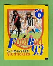 #TT. UNOPENED 1993 SELECT  AFL STICKER PACK - COLLINGWOOD & ESSENDON FRONT
