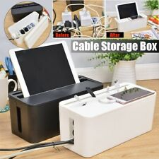 Cable Storage Box Case Tidy Wire Management Plug Socket Safety Organizer