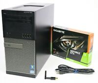 Gaming PC Quad Core GTX 1050 Ti 1650 i5 or i7 240GB - 1TB SSD 8GB 16GB or 32GB