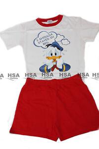 Boys Kids Pyjamas Donald Duck Short Sleeve TShirt Shorts Birthday Christmas gift
