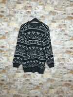 VINTAGE 90'S COSBY GEOMETRIC WINTER WARM MENS CREW NECK JUMPER SIZE LARGE #431