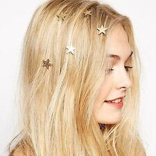 Chic Mini Metal Star Rotated Hairpin Women Hair Clips Hair Accessories Barrettes