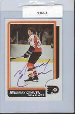 Murray Craven 1986 Topps Autograph #167 Flyers