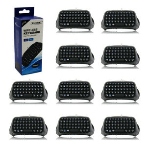 Wholesale Lot of 10 Playstation 4 BLACK Text Pad QWERTY Keyboard Bluetooth (PS4)