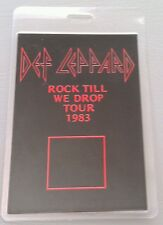 1983 Def Leppard Backstage Pass Black Small Rock Till We Drop Tour