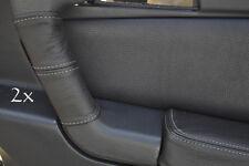 Se adapta a Alfa Romeo Gtv Cuero 2x Manija De Puerta cubre Gris St