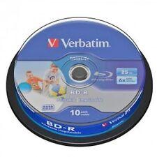 50 BD -R Verbatim Print 43804 Stampabili 25GB 6X BluRay Cakebox Printable Vuoti
