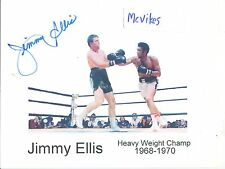 Jimmy Ellis WBA Heavyweight Champ Autographed Signed Photo COA DECEASED