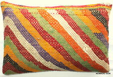 (40*60cm, 16*24cm) Textured handmade pillow cover brocaded weave multicoloured