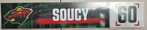 Carson Soucy #60 Minnesota Wild Game Used Locker Plate