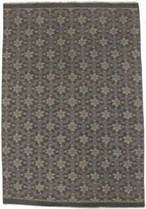 New Geometric Modern Design 4X6 Hand-Knotted Contemporary Oriental Rug Carpet