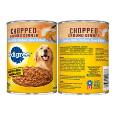 Pack of 12 Canned Dog Food Made with Real Chicken and Beef Combo w/ Liver 13.2oz