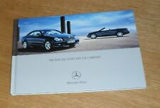 MERCEDES CLK COUPE CABRIOLET brochure 2005 - 220 320 CDI 200K 280 350 500 55 AMG