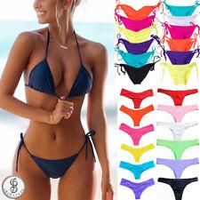 Swimwear Bikini Set Swimsuit Push-up Padded Bra Bandage Beachwear Bathing Suit Q