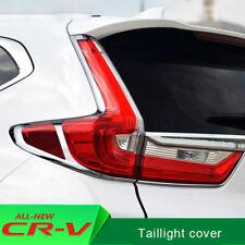 Chrome Rear Fog Moulding Cover Trims For Honda CRV CR-V 2017 2018 accessories