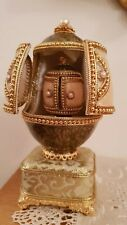 Faberge Russia style 24K Gold Double egg Real eggs Musical One Only Handmade Eu