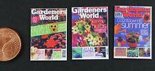 3 Garten Zeitschriften Magazin  Miniatur 1:12  Puppenstube Setzkasten Breyer
