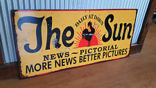 The Sun News Pictorial Metal tin sign shop bar Garage Australian Newspaper