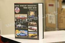 SIGNED! Official SAAC 1968-1970 Shelby Mustang Registry sold by BRE Peter Brock