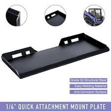 14 Steel Quick Tach Attachment Mount Plate Kubota Bobcat Skidsteer Loader Os