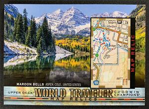 2018 Goodwin Champions Maroon Bells Aspen, Colorado World Traveler Map Relics