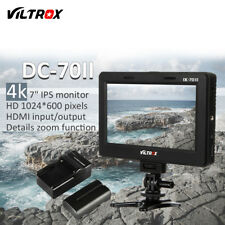 Viltrox 7'' HDMI 4K Video LCD Monitor For Canon Nikon Camera+battery+charger