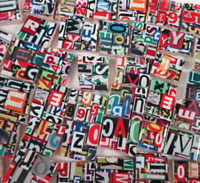 Ceramic Mosaic Tiles - Numbers Letters Abstract - Red Yellow Green Black White