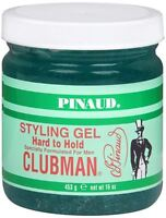 Pinaud Clubman Styling Gel Hard To Hold 16 oz (Pack of 2)
