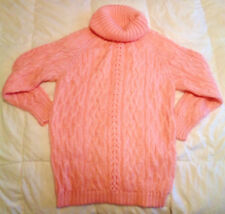 NEW EXPRESS TRICOT Fuzzy Pink Mohair Sweater Oversize Medium Cowl Neck