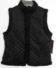 Ralph Lauren Womens Black Reversible Quilted/Faux Persian Lamb Fur Vest S-PT NWT