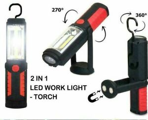 Multifunction Foldable Magnetic Base LED COB Inspection Lamp Flashlight Portable
