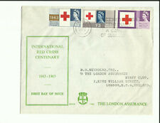 1963 Red Cross Centenary on London Assurance cover. Rarely seen *