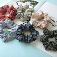 Flower Girls Chiffon Ponytail Hair Scrunchie Holder Soft Elastic Hair Ties Rope