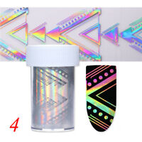Feuille holographique Starry Laser Triangle Nail Art transfert autocollants