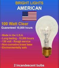 100watt Clear Rough Service, 10k hour, Incandescent Bulbs (6)
