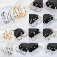 Fashion Big Hoop Earrings Silver/Gold Women Ladies Large Hoops Earrings Jewelry