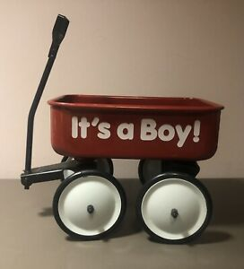 "Teleflora Metal RED WAGON ""It's a Boy!"" - Newborn Baby Shower Gift Basket"