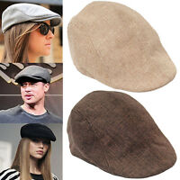 HK- Men Women Fashion Peaked Cap Flat Hat Beret Hats Cabbie Newsboy Style Popula