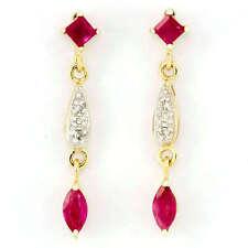 Handmade Natural Ruby Drop/Dangle Fine Earrings