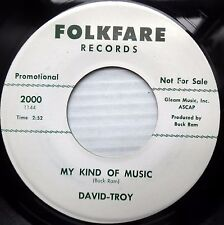 DAVID-TROY teen rocker promo FOLKFARE 45 MY KIND OF MUSIC ~A ROSE FOR ROSE JR146
