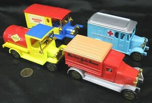 Lot of 4 Die-Cast Reader's Digest Classic Trucks Sunoco Wonder Bread New York Ti