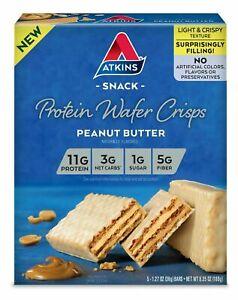 Atkins Protein Wafer Crisps, Peanut Butter, Keto Friendly
