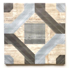 """8"""" x 8"""" Cordoba Geometric Pattern Made in Spain Ceramic Floor and Wall Tile"""